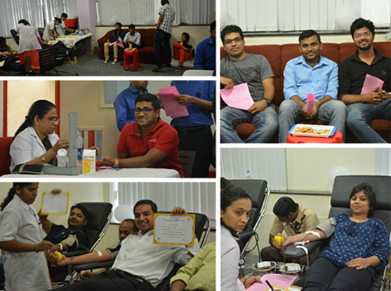 CSR activities : blood donation drive January 2016